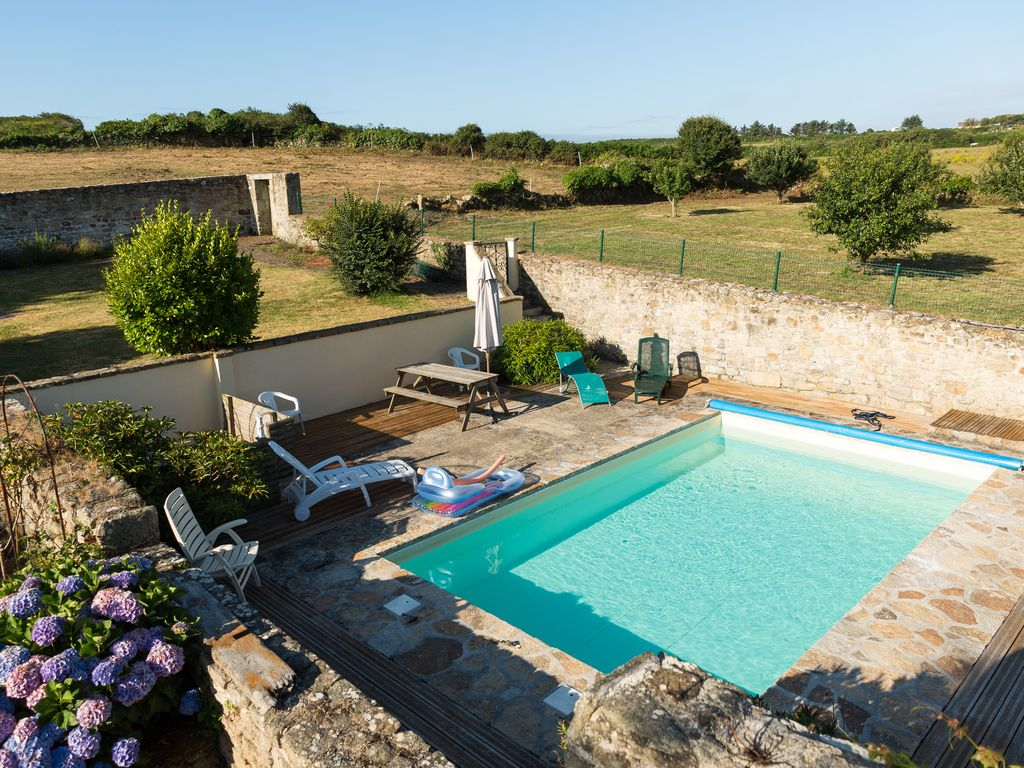 Your Holidays In Brittany Finistere South The Sea Main Farm House Swimming Pool Plogoff