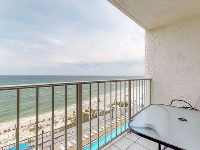 Photo for Beachfront condo in a gated resort w/ shared pools, hot tub & fitness room!