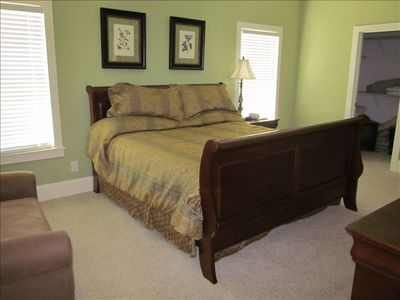 1 of 3 Master Bedrooms King size bed, pull out sofa and private bath