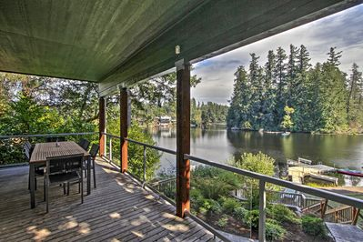 The ultimate lake retreat awaits you at this vacation rental house in Olympia.