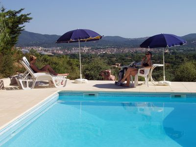 Photo for Stunning views from this beautiful air conditioned villa with private pool