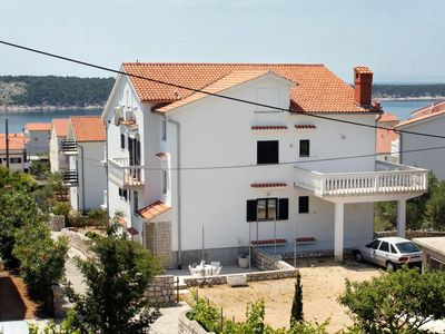 Photo for One bedroom apartment with balcony and sea view Barbat, Rab (A-5015-a)