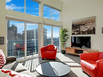 Photo for Top Floor Condo, the Belltown Court Loft Penthouse, with Water Views, Free Parking & WiFi!