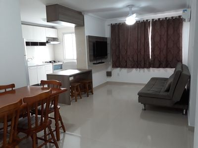 Photo for Quadra Mar, 3 bedrooms (1 suite), 04 Split Air, WIFI, TV, 06 people, 50m to the beach