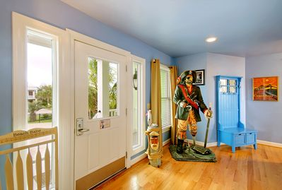 You'll be greeted by friendly pirates upon entering Casa Margarita!  :-)
