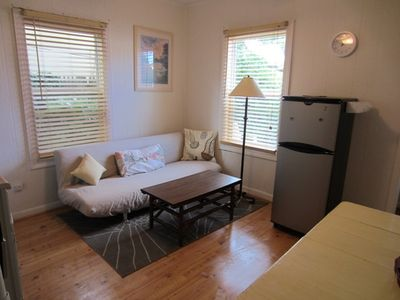 Living Area - The multi-purpose room has a twin click clack futon is a great place to relax after a day in the sun!