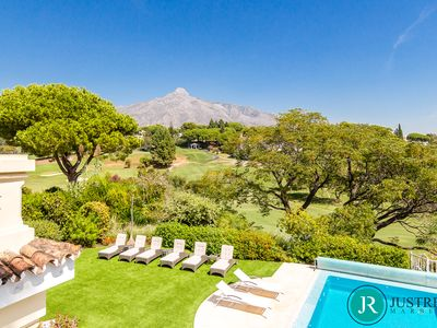 Photo for Luxury Villa Frontline Golf! 6 bedrooms & Amazing mountain, Golf & Sea views!