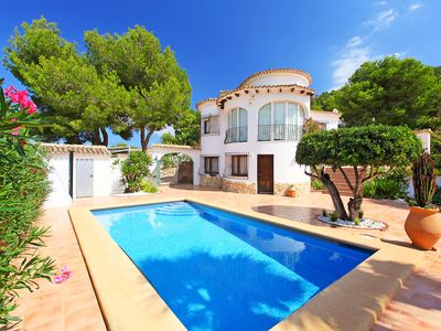 Photo for This 4-bedroom villa for up to 8 guests is located in Moraira and has a private swimming pool.......
