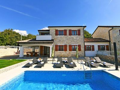 Photo for Gorgeous stone house - private pool, barbecue area, private yard, terrace sea view