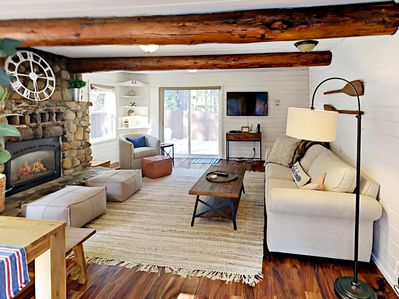 Living Room  - Welcome to Donner Lake! Return home to this adorable cabin after a fun-filled day of alpine adventures.