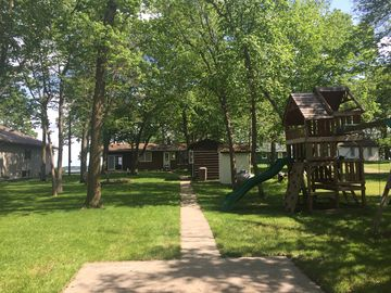 Private Vacation Home on West Battle Lake with sandy bottom beach