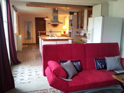 Photo for RAMBOUILLET - Independent apartment in house with garden and terrace