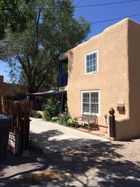 Historic Ledoux Street, Taos, NM, USA