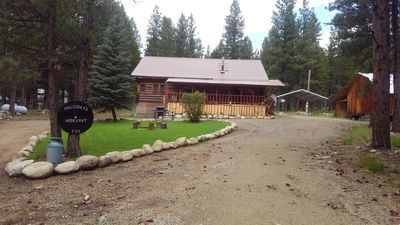 Photo for Vintage,two story log cabin in the beautiful Bitterroot mountains. Rustic