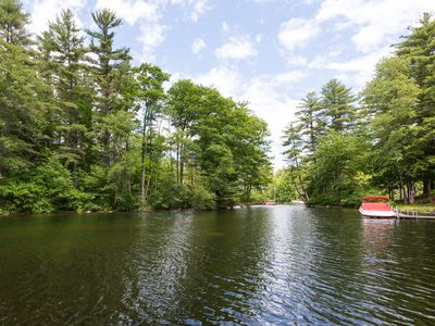 Photo for Updated waterfront home with private dock