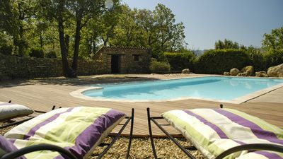Photo for Bastide of charm, heated swimming pool, in Provence in the heart of the Luberon park