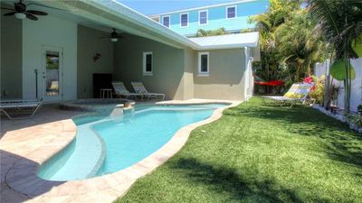 Steps from Gulf Beaches and Private Heated Pool with Spa!