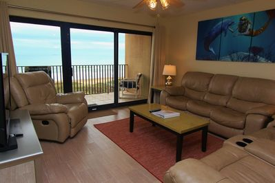 The Living Room Has An Amazing Ocean View