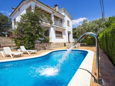 Photo for House CAL VIVES, with BBQ, private pool and tennis, Wi-Fi, next to Sitges