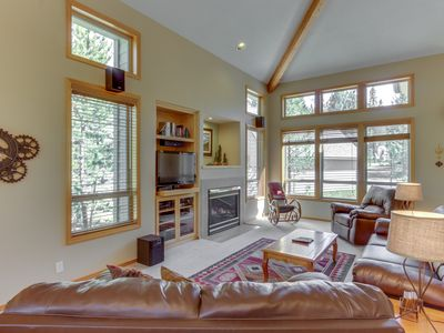 Photo for Spacious home w/ private hot tub & SHARC passes, beautiful wooded setting!