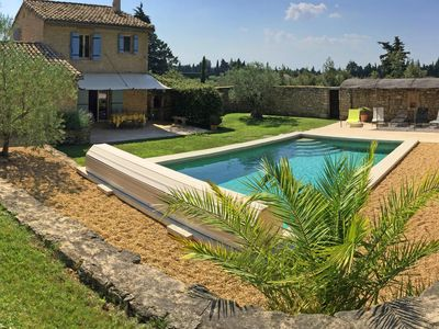 Photo for Typical Provencal country house with private pool Cheval blanc Luberon 6 people