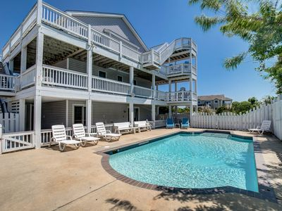 Photo for Villa Del Sol | 1190 ft from the beach | Dog Friendly, Private Pool, Hot Tub | Corolla