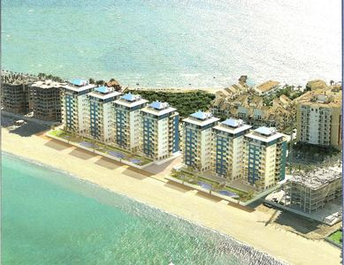 Photo for Luxurious 2-bedroom air conditioned beach front apartment on La Manga Strip