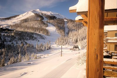 Casa Moonlight is directly above the Iron Horse Lift - to Big Sky and Moonlight
