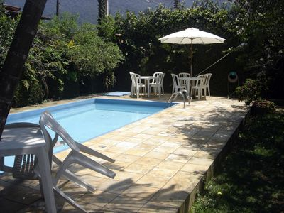 Photo for Home / Maresias-R. Private w / Gate-WiFi-TVCable-350m beach -see packages