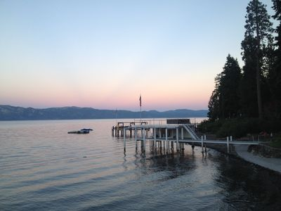 Photo for Private Pier, Lakefront, Agate Bay, Close To Restaurants & Bars