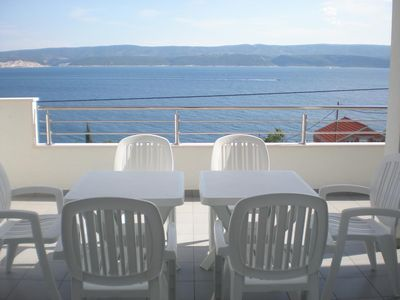 Photo for Two bedroom apartment with terrace and sea view Stanići (Omiš)