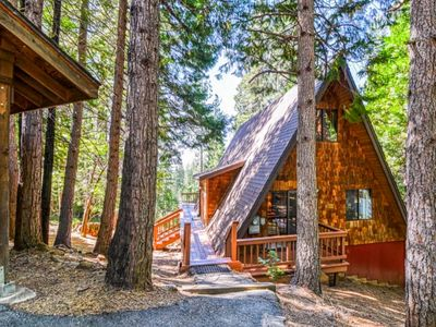Photo for Adorable A-Frame in Blue Lake Springs w/ a wraparound deck, shared pool, & more!