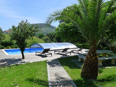 Photo for Beautiful Basque house with pool facing the mountains, near beaches Hendaye