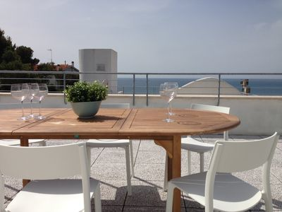 Photo for holiday home in Castiglioncello with panoramic terrace overlooking the sea