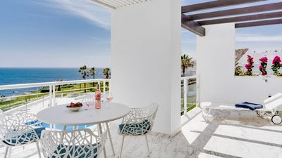 Photo for Unique Beachfront Apartment - Modern, Fantastic Sea Views & Direct Beach Access