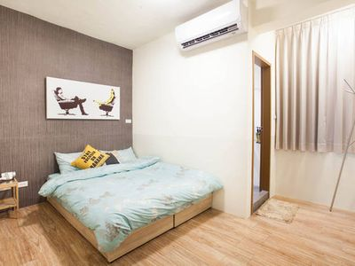 Photo for Double room 30sec to MRT station, Ruifang Night Market, Love River 2C