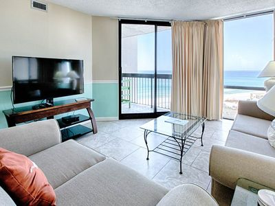 Photo for 10th Floor Charming Condo, Splash pad & multiple pools on-site, Gulf-front