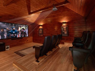 Photo for Private Theater Room - Luxury 3 bedroom cabin