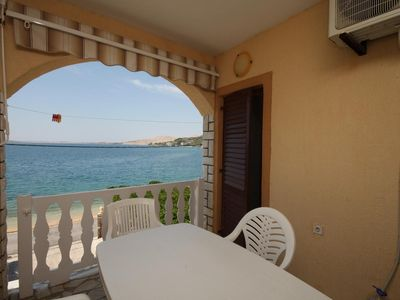Photo for Two bedroom apartment near beach Metajna, Pag (A-6497-d)