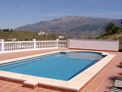 Photo for Stunning detached villa, private pool, WiFi,IPTV, fantastic sea & mountain views
