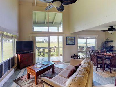 Photo for NEW LISTING! Beautiful condo w/golf, shared pool & ocean views - close to beach!