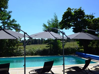 Photo for Le Grand Bost gite, renovated to a high spec with private grounds and pool area.