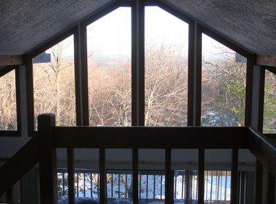 WHAT A GREAT VIEW WITH LARGE GLASS WINDOWS
