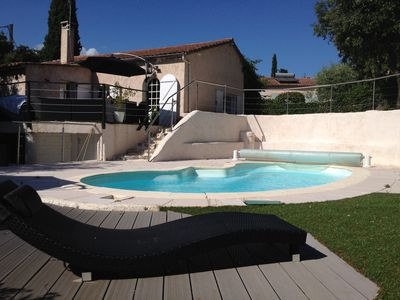Photo for Quiet villa with Spa and pool ideal family in Grasse near sea and mountains