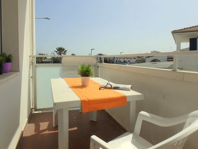 Photo for Watch the beach from the balcony! House with air conditioning, on the sea at Lido Pomposa