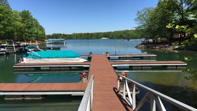 Photo for Lake Keowee, Six Mile, Boat Dock, Pool, Near Clemson, View, Sunsets ❤