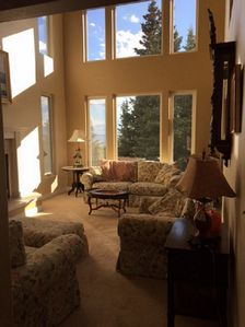 Formal Living Room with View of Cook Inlet   Turnagain Arm