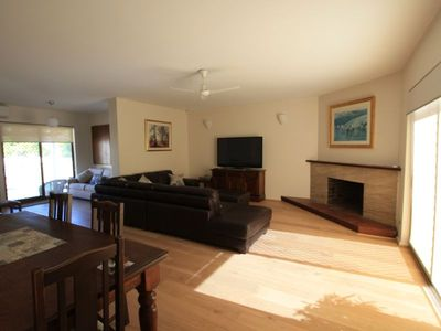 A large bright and comfortable air conditioned living area.