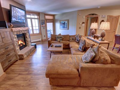 Photo for Fireplace, FREE WIFI at Expedition Station 8590 pool view, walk to slopes By SummitCove Lodging