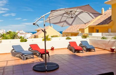 Photo for Modern apartment with huge terrace and two pools, Estepona port, close to all facilities and beaches